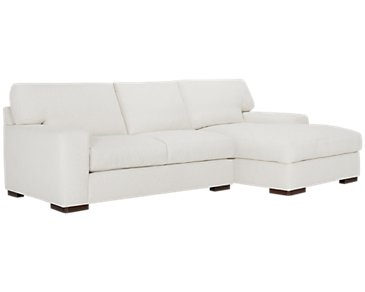 Veronica White Down Right Chaise Sectional