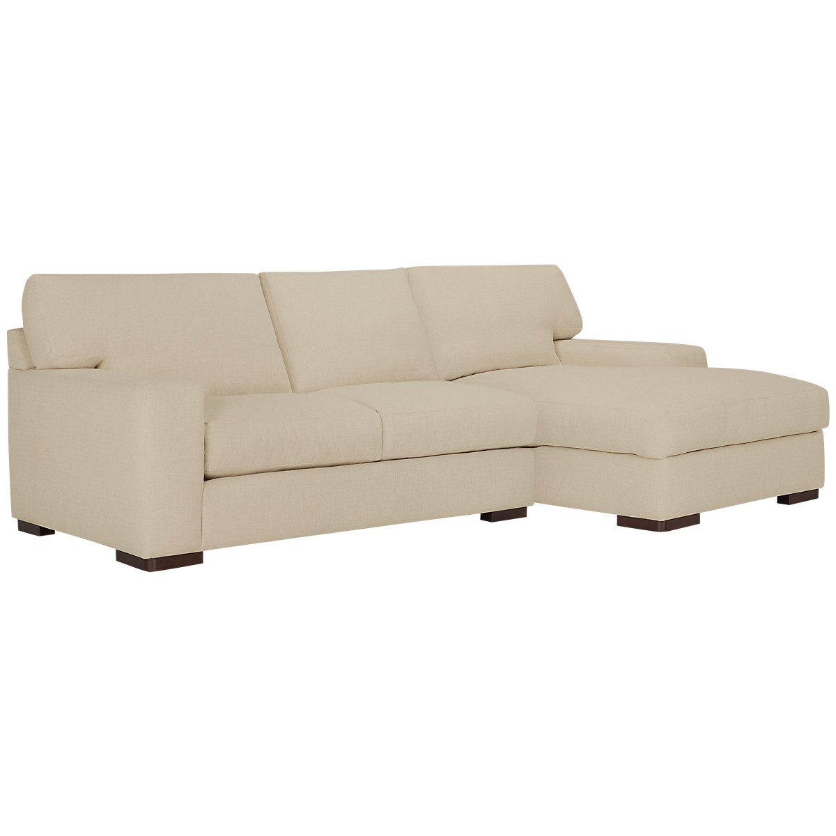 Veronica Khaki Fabric Right Chaise Sectional
