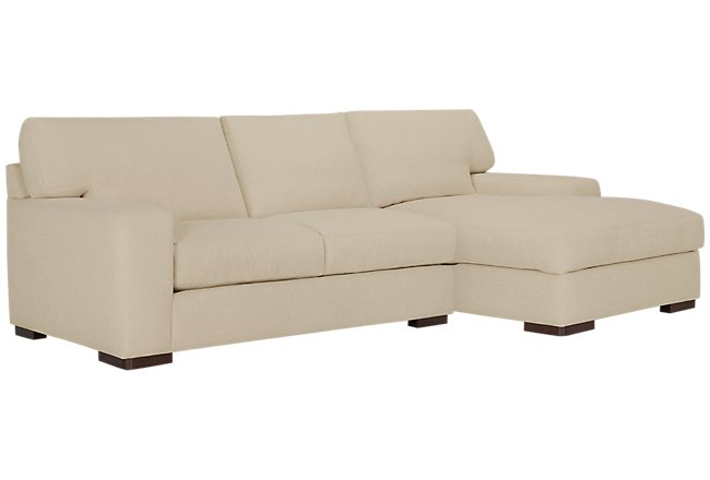Veronica Khaki Down Right Chaise Sectional