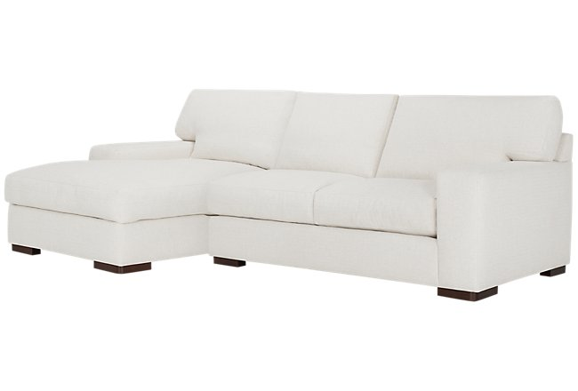Veronica White Down Left Chaise Sectional