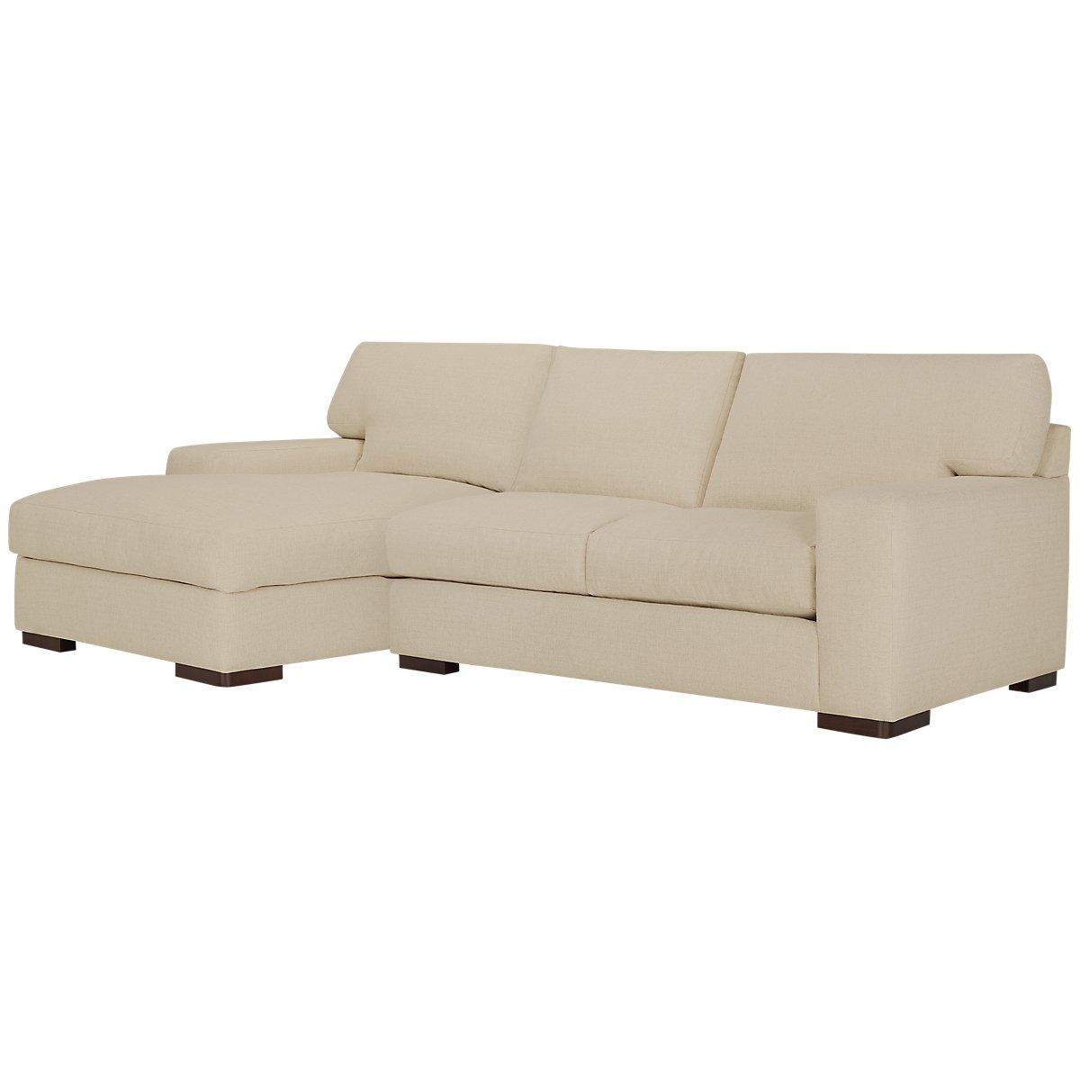City furniture veronica khaki down left chaise sectional for Chaise kaki