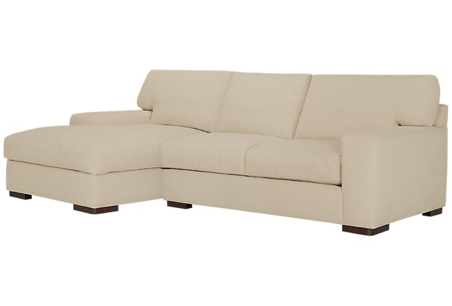 Veronica Khaki Down Left Chaise Sectional