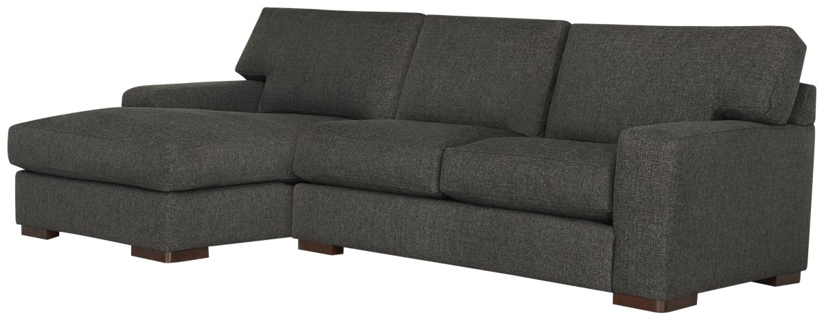 Veronica Dark Brown Down Left Chaise Sectional