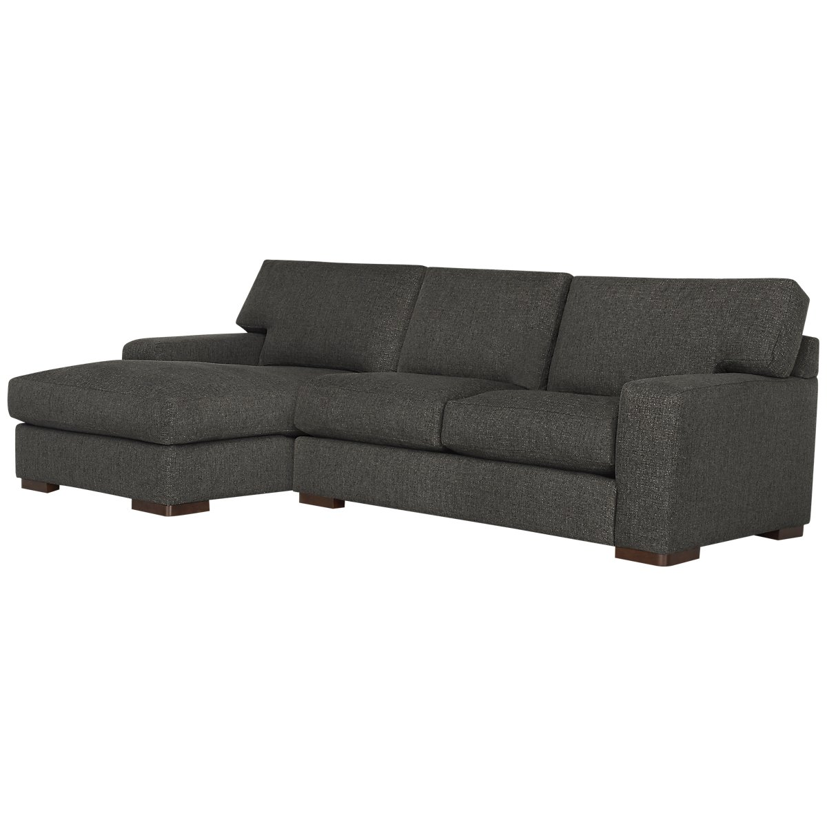Veronica Dark Brown Fabric Left Chaise Sectional