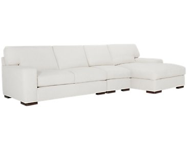 Veronica White Down Small Right Chaise Sectional