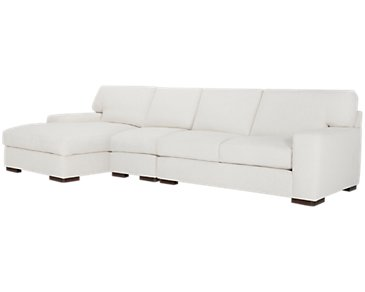 Veronica White Down Small Left Chaise Sectional