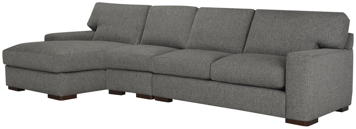 Veronica Gray Down Small Left Chaise Sectional