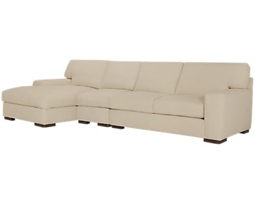 Veronica Khaki Down Small Left Chaise Sectional