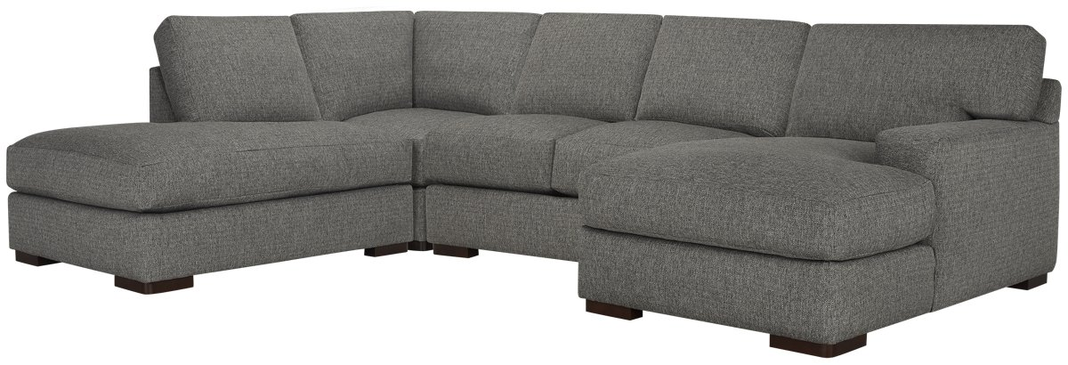 Veronica Gray Down Small Left Bumper Sectional