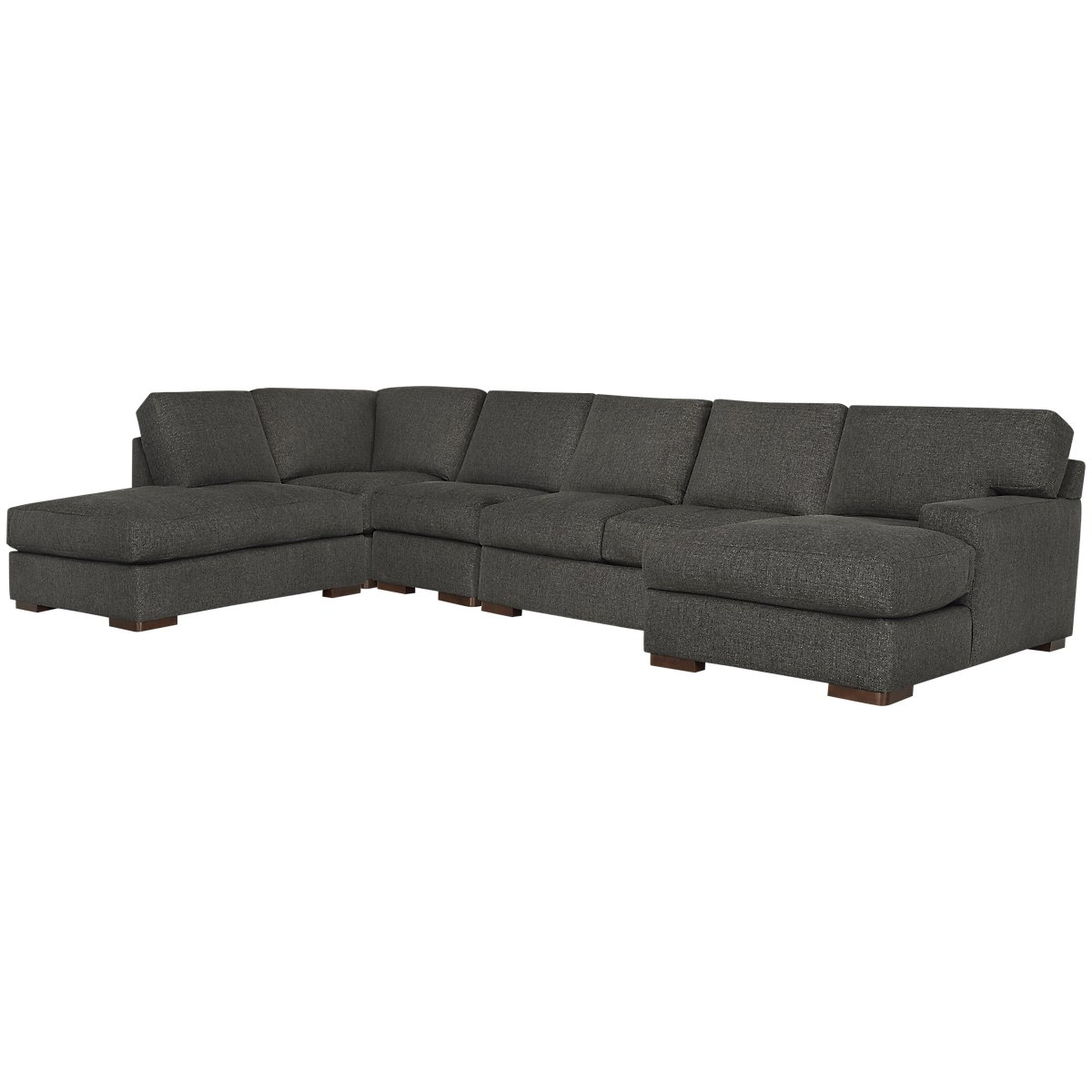 Veronica Dark Brown Down Large Left Bumper Sectional