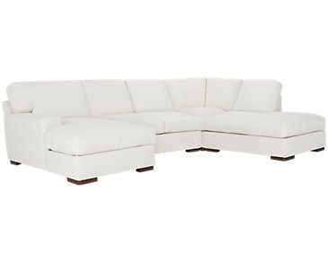 Veronica White Down Small Right Bumper Sectional
