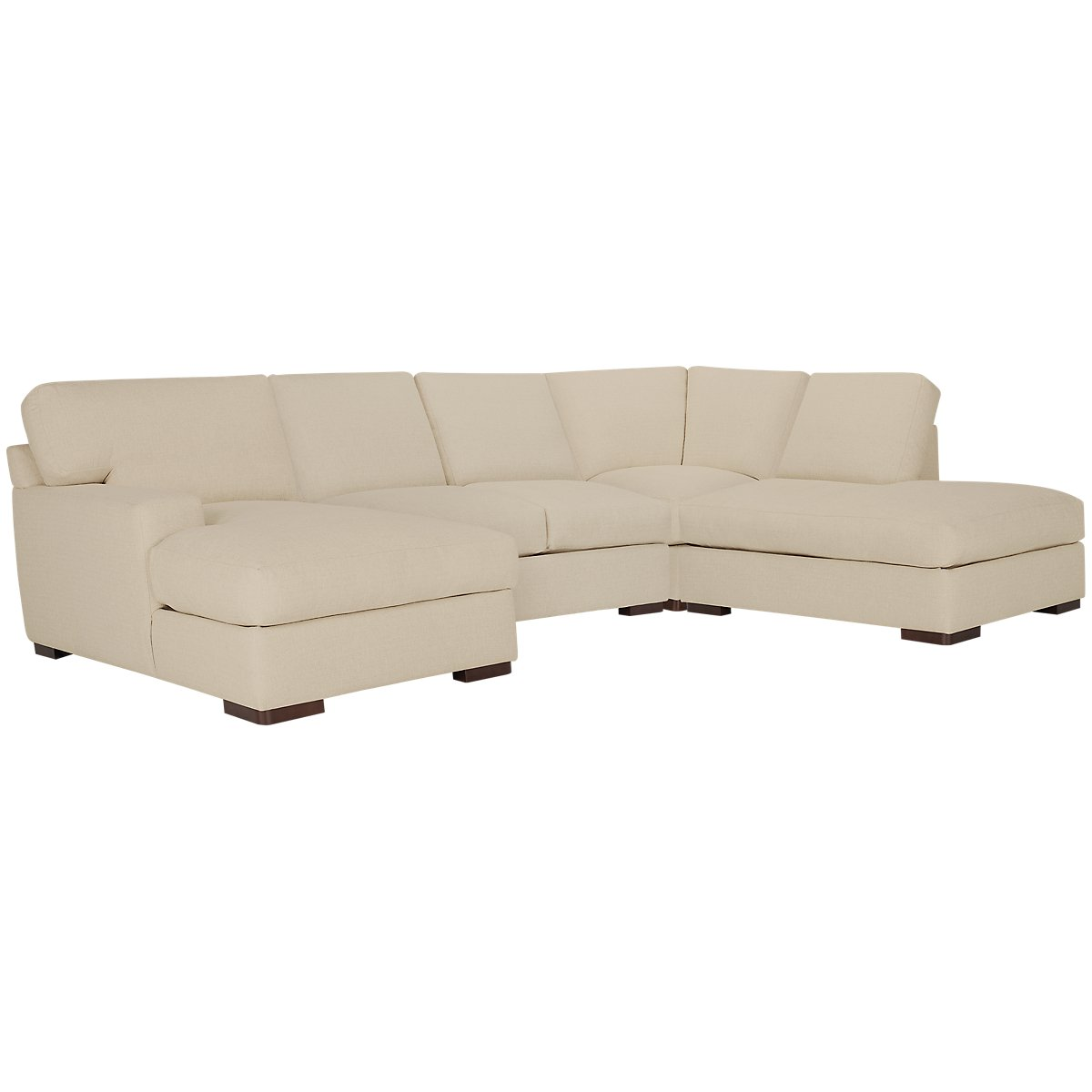 Veronica Khaki Down Small Right Bumper Sectional
