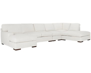 Veronica White Down Large Right Bumper Sectional