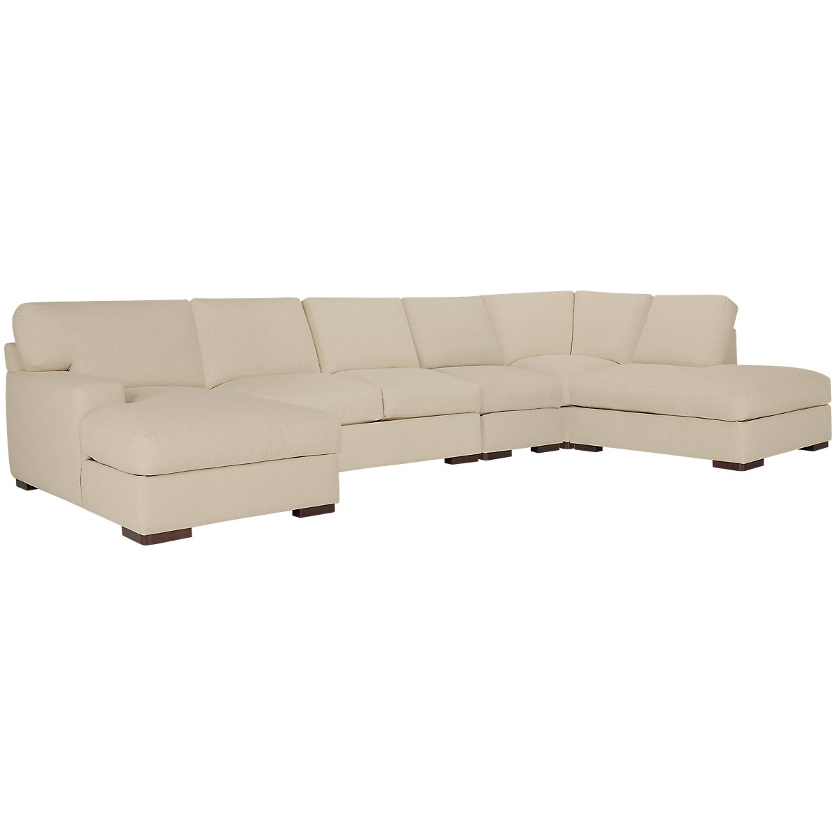 Veronica Khaki Down Large Right Bumper Sectional