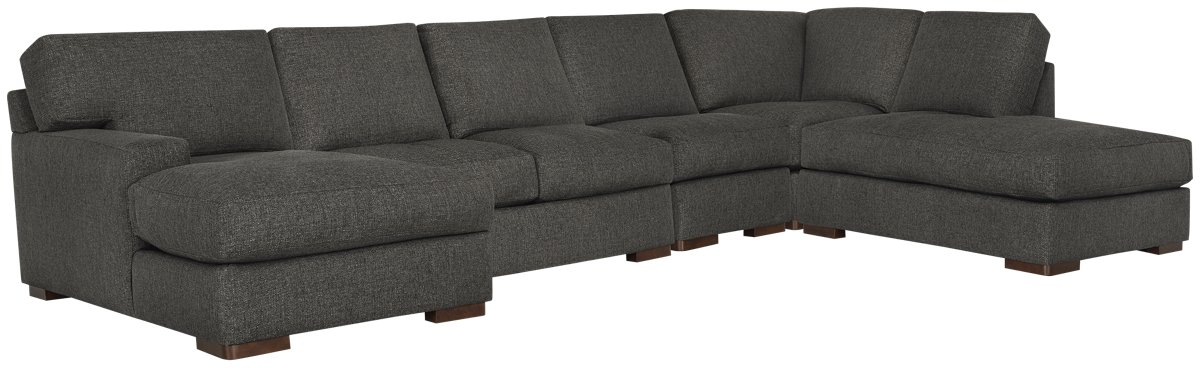 Veronica Dark Brown Down Large Right Bumper Sectional