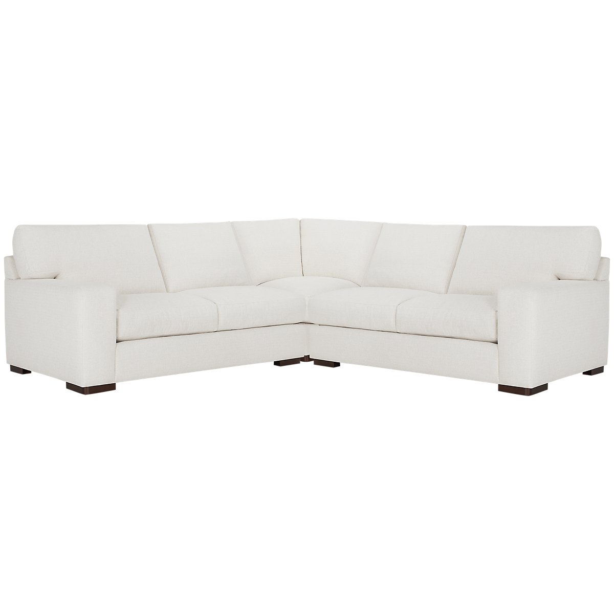 Veronica White Fabric Small Two-Arm Sectional