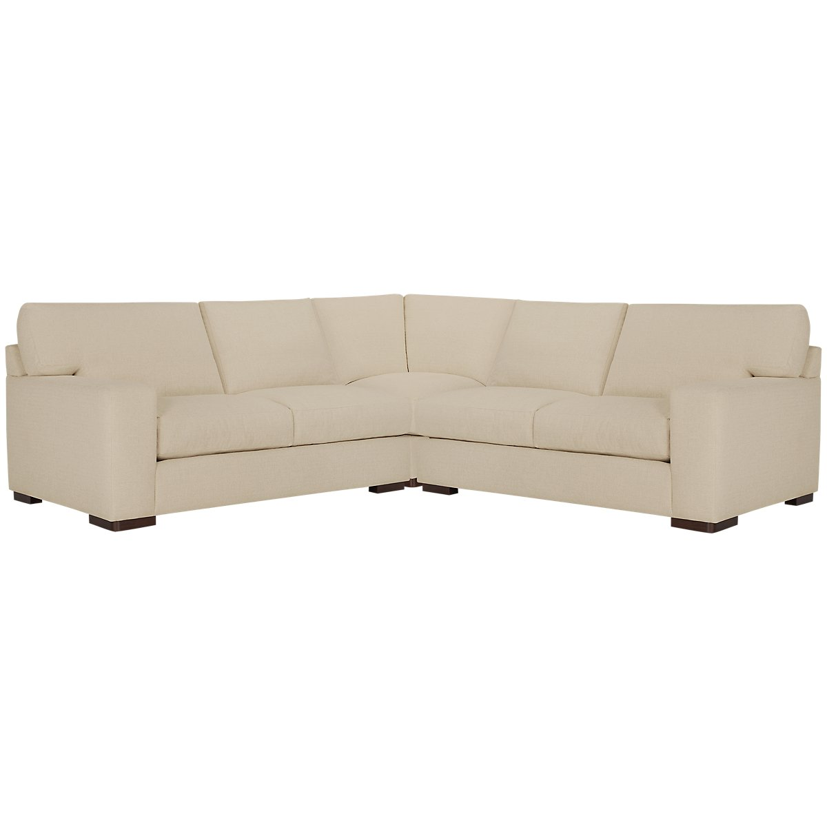 Veronica Khaki Down Small Two-Arm Sectional