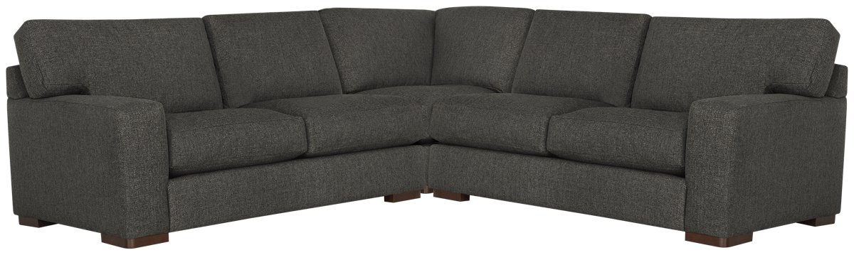 Veronica Dark Brown Down Small Two-Arm Sectional