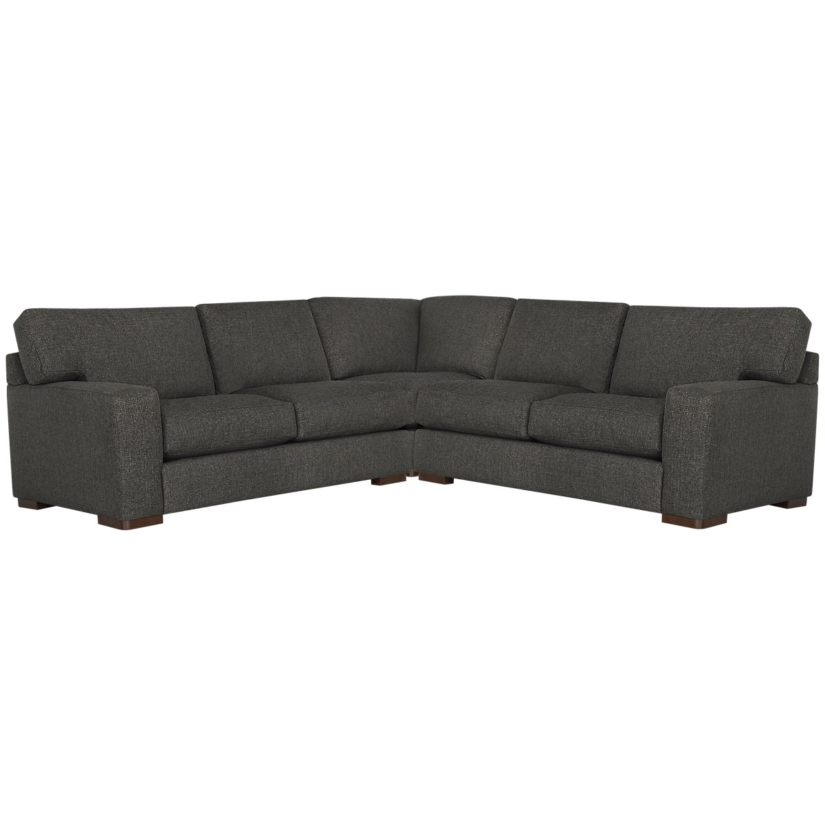 Veronica Dark Brown Fabric Small Two-Arm Sectional