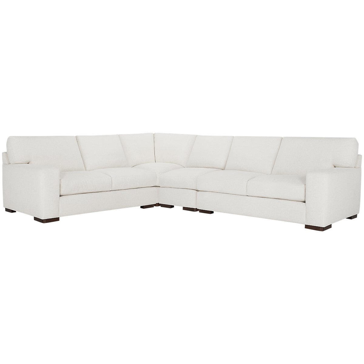 Veronica White Fabric Large Two-Arm Sectional