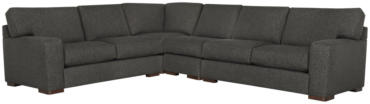 Veronica Dark Brown Down Large Two-Arm Sectional