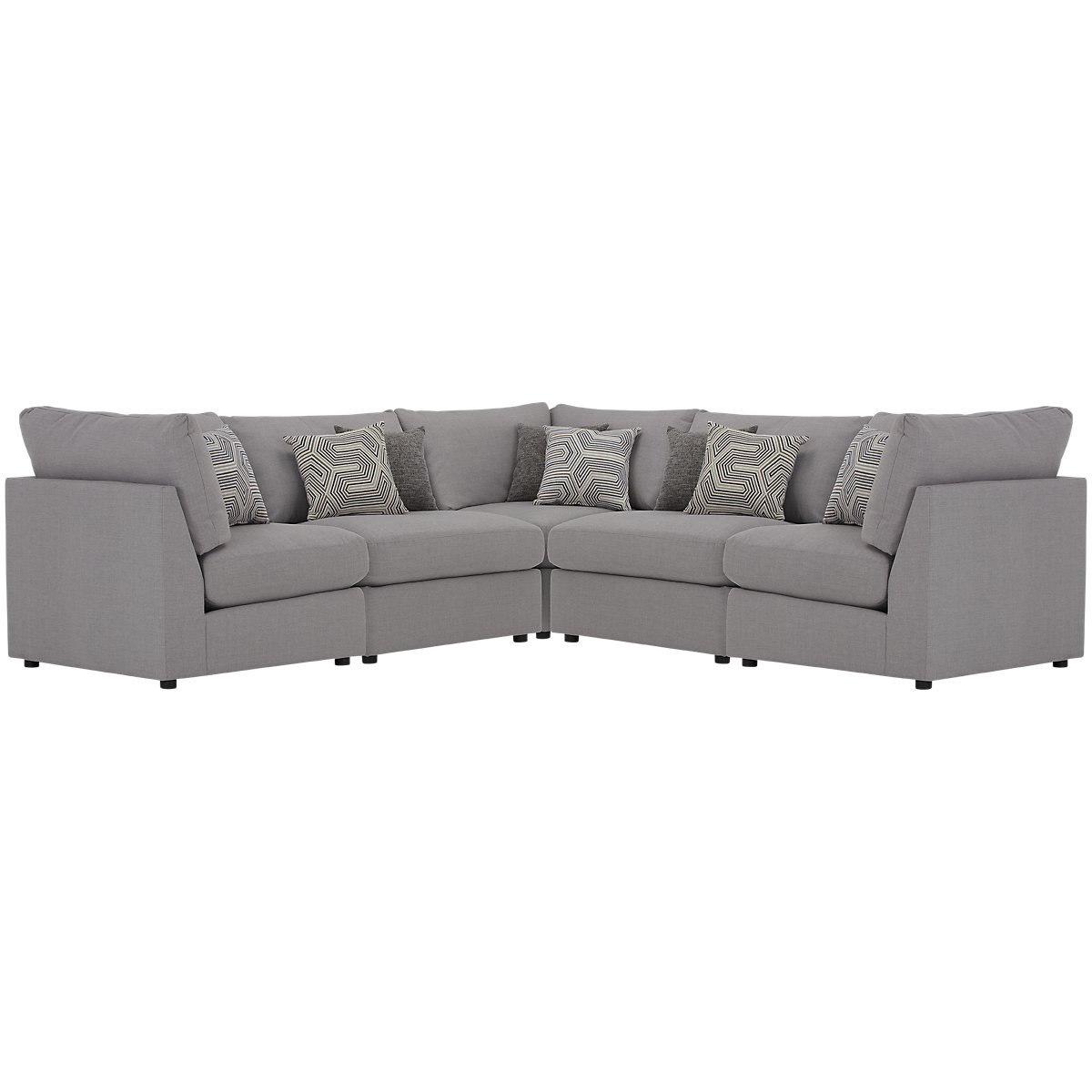 gray see adelaide twill sofa modern fabric sectional white