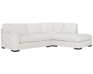 Veronica White Down Right Bumper Sectional