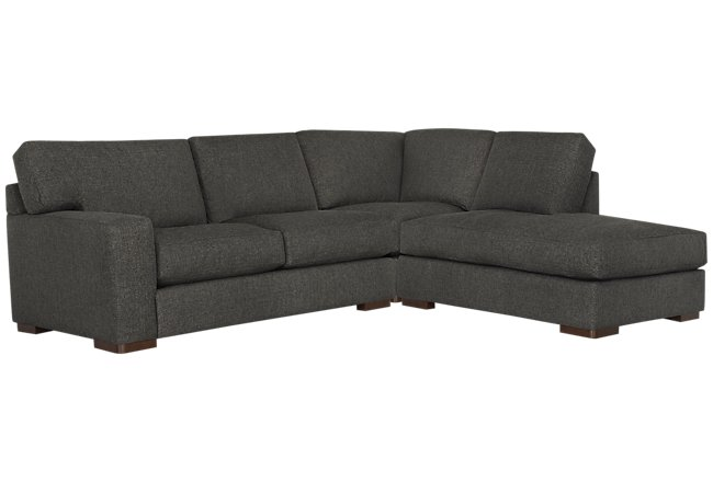 Veronica Dark Brown Down Right Bumper Sectional