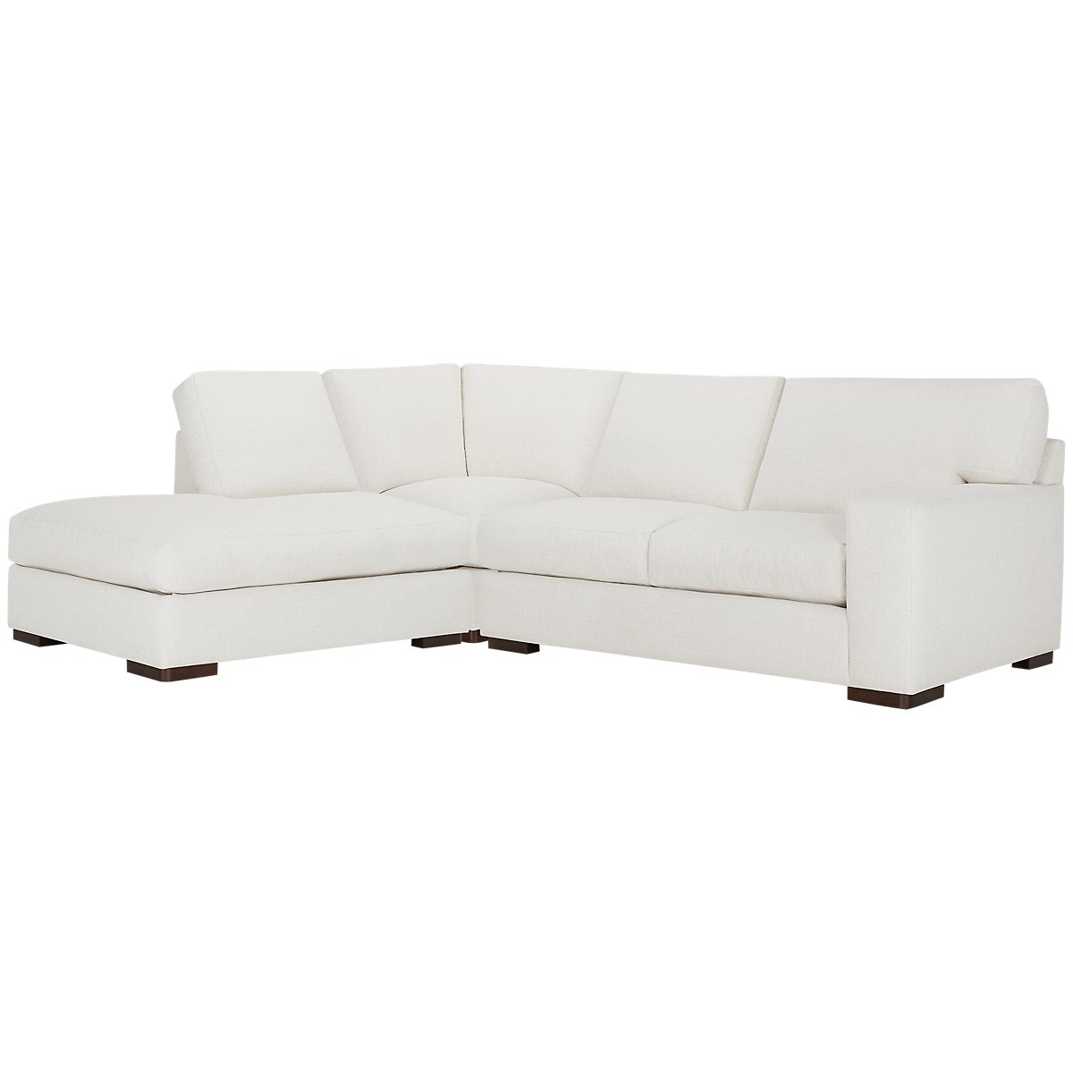Veronica White Down Left Bumper Sectional