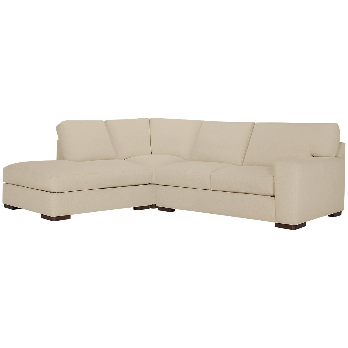 Veronica Khaki Down Left Bumper Sectional