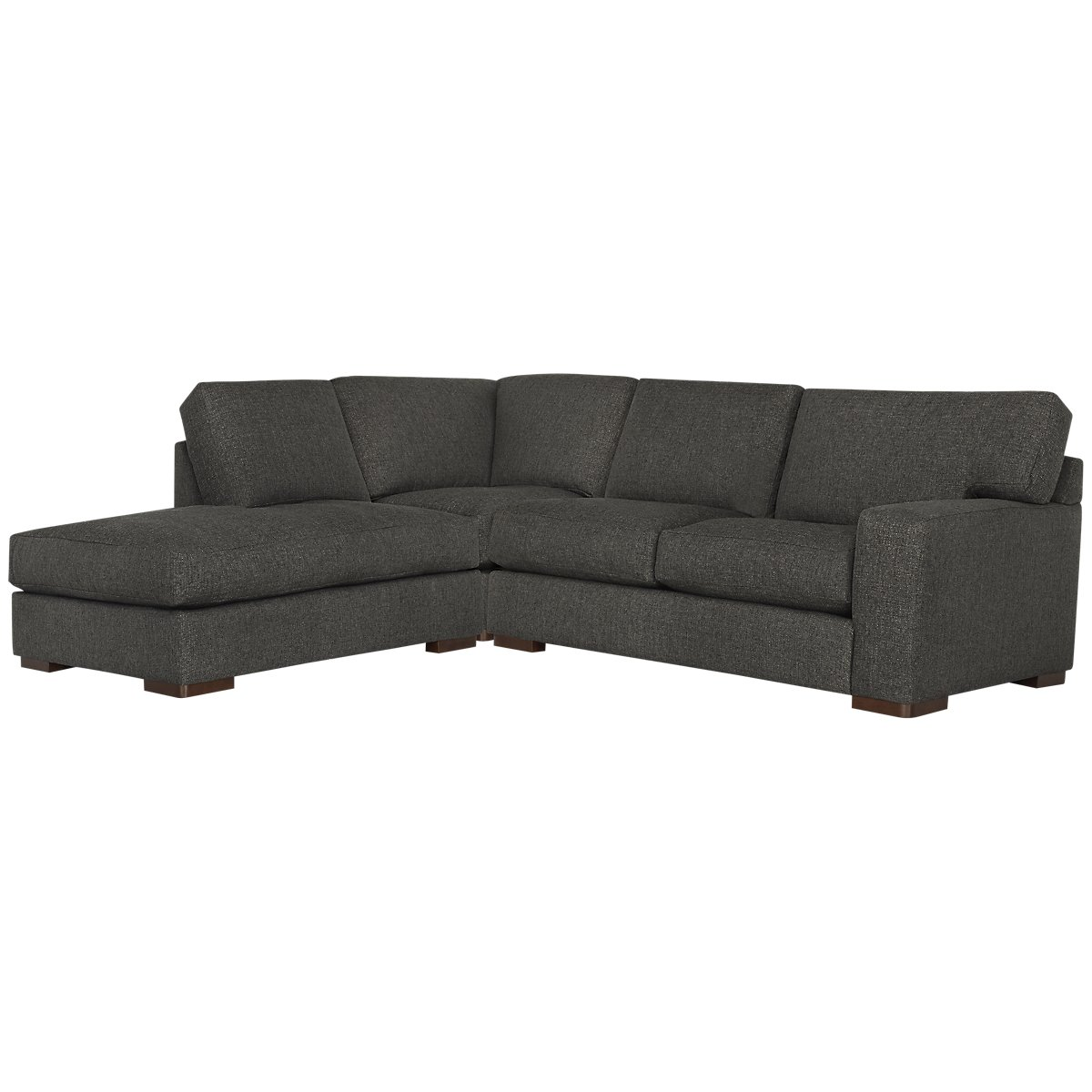 Veronica Dark Brown Fabric Left Bumper Sectional