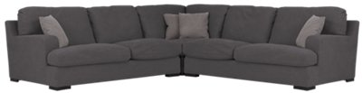 Samson Dark Gray Fabric Small Two-Arm Sectional