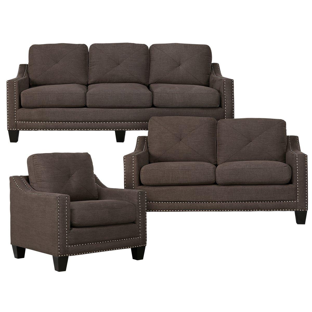 City Furniture: Malone Dark Gray Microfiber Chair