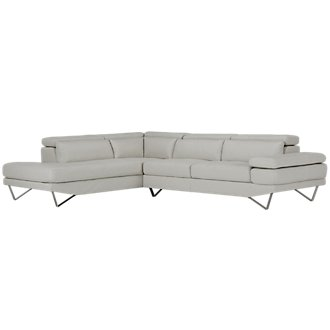 Liberty Light Gray Microfiber Left Chaise Sectional