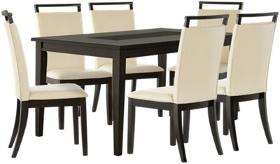 Merveilleux Montclair Dark Tone Rectangular Table U0026 4 Upholstered Chairs
