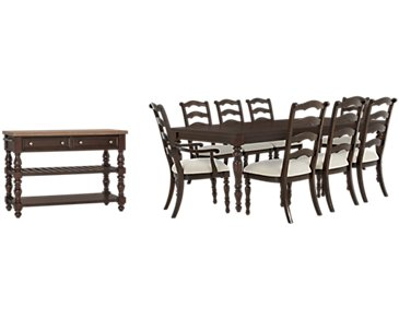 Savannah Dark Tone Rectangular Dining Room