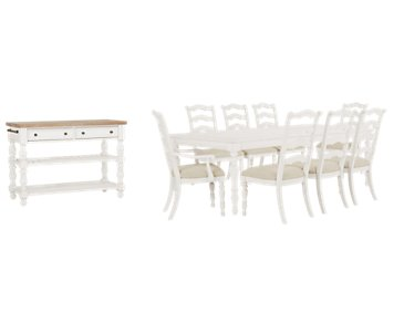 Savannah Ivory Rectangular Dining Room