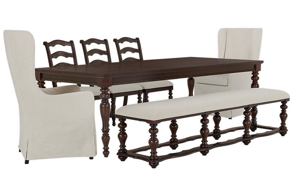 Magnificent Savannah Dark Tone Rectangular Table And Mixed Chairs Andrewgaddart Wooden Chair Designs For Living Room Andrewgaddartcom