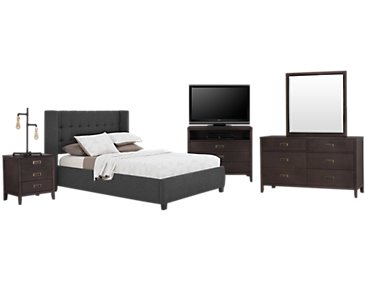 Chatham Dark Gray Low Platform Bedroom Package