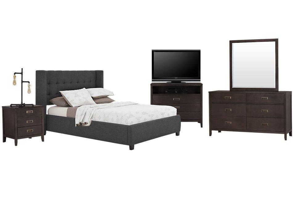 Chatham Dark Gray LOW Platform Bedroom Package | Bedroom ...