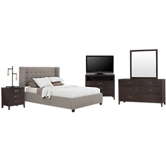 Chatham Pewter Low Platform Bedroom Package