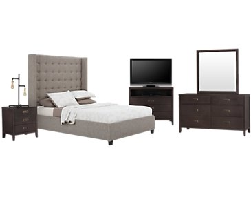 Chatham Pewter High Platform Bedroom Package
