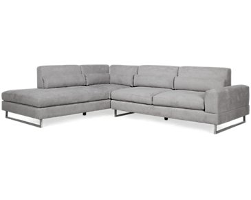 Alec Dark Gray Fabric Left Chaise Sectional