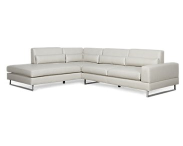 Alec Light Gray Microfiber Left Chaise Sectional