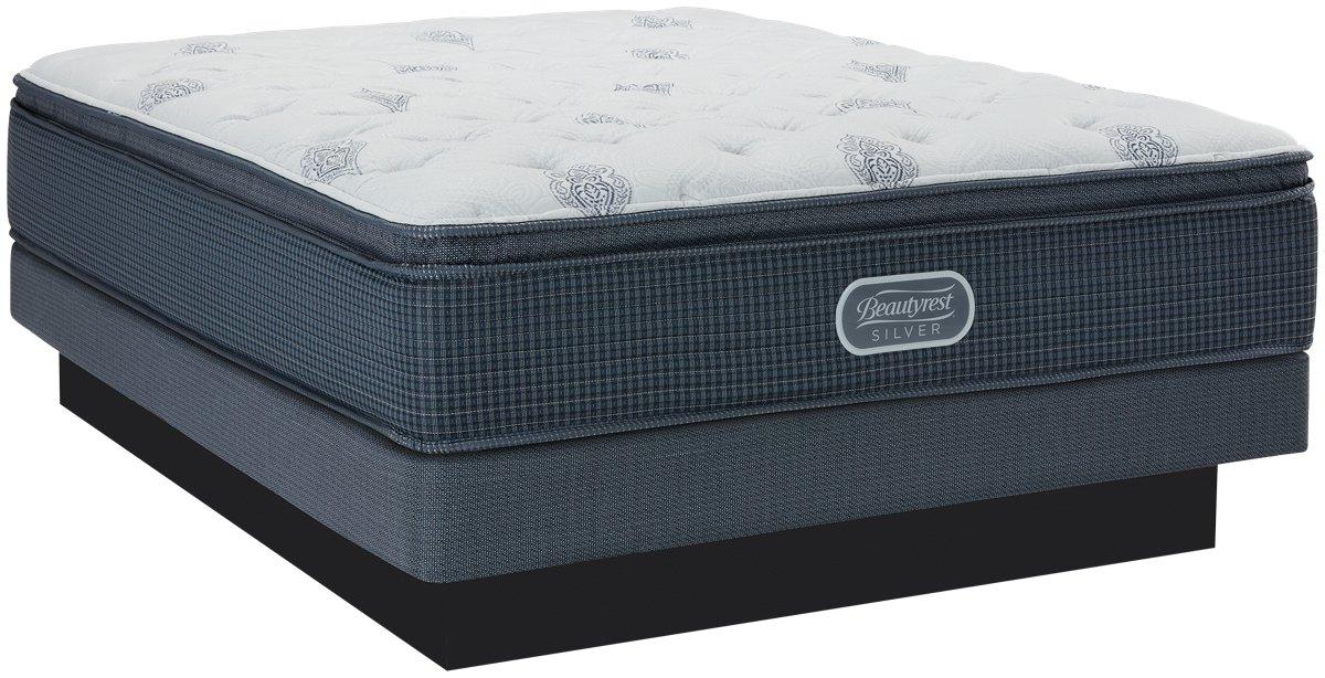 Beautyrest Silver Palm Springs Plush Innerspring Pillow Top Low-Profile Mattress Set