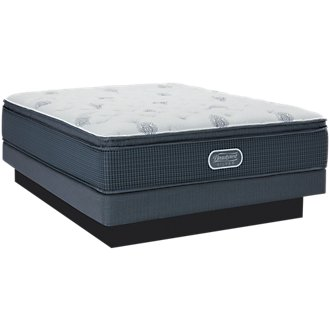 Beautyrest Silver Palm Springs Plush Pillow Top Low-Profile Mattress Set