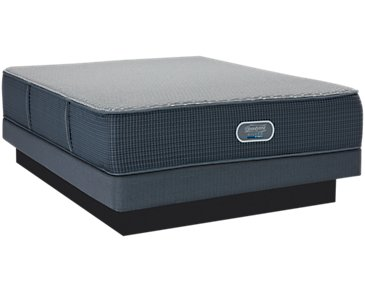 Beautyrest Silver Ventura Plush Hybrid Low-Profile Mattress Set