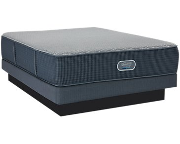 Beautyrest Silver Victory Firm Hybrid Low-Profile Mattress Set