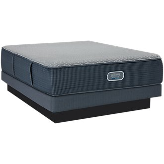 Beautyrest Silver Vivid Shores Ultra Plush Hybrid Low-Profile Mattress Set