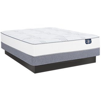 Serta Perfect Sleeper Cobbins Plush Low-Profile Mattress Set